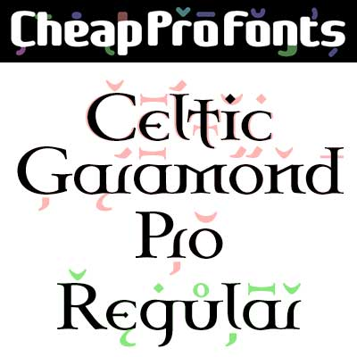 Celtic Garamond Pro Regular by Levente Halmos